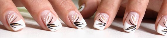 Gelnagel Mit Nail Art Naildesign Malerei