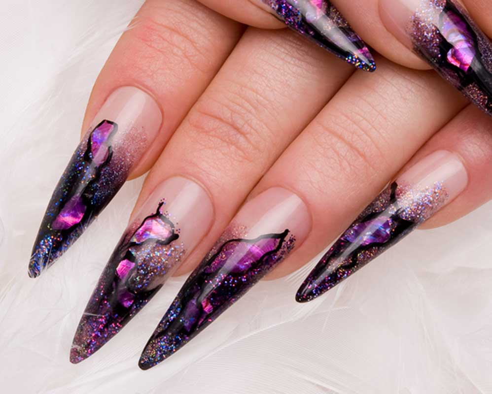 Black Nail Art Designs